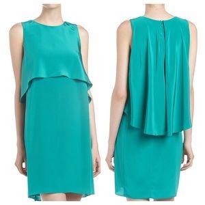 Tibi Two-Layer Silk Shift Dress